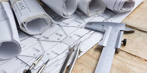 Plan d'ingénieur en structure du bâtiment après une étude géotechnique