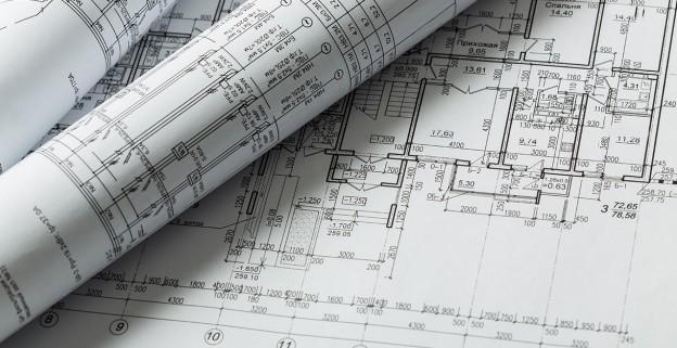 Plan de structure du bâtiment fait par un ingénieur pour un projet immobilier